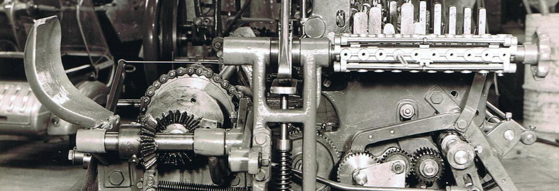Historical gear manufacturing machine